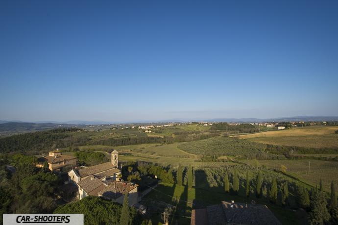 vista dalla torre del castello di poppiano
