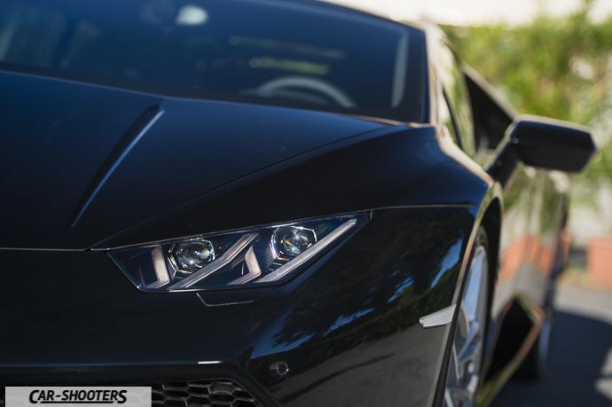 Lamborghini Huracán dettaglio faro frontale
