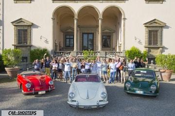 foto gruppo raduno porsche 356 tenuta varramista