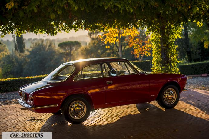 Tramonto su Alfa Romeo Giulia GT Junior