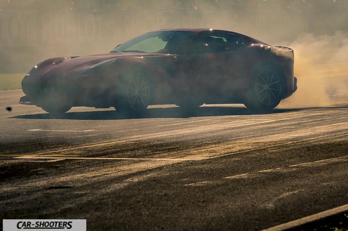 Ferrari F12 TDF hooning burnout