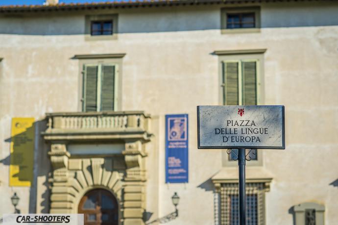 vista dell'accademia della crusca alla villa reale di castello