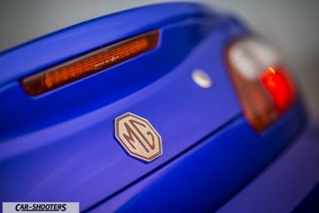 MG TF dettaglio logo posteriore