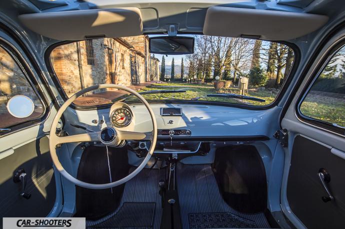 Nuova Fiat 500 D interni dettaglio
