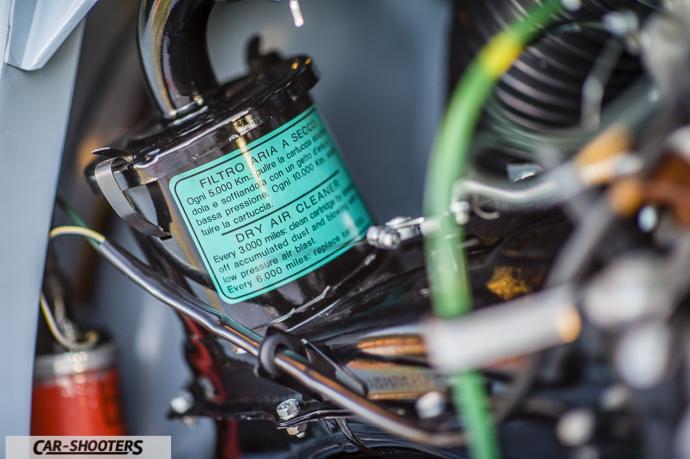 dettaglio filtro aria motore Nuova Fiat 500 D