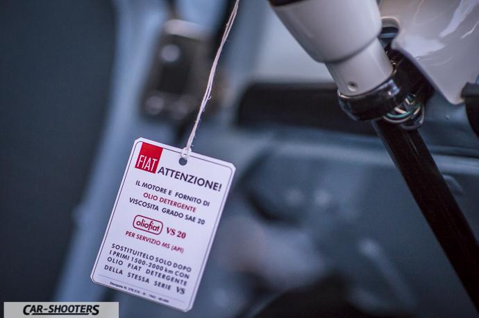 Dettaglio cartellino olio Fiat 500