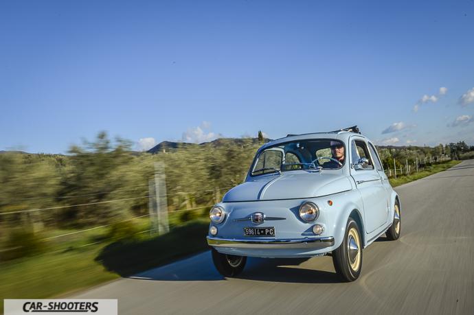 Nuova Fiat 500 D in marcia
