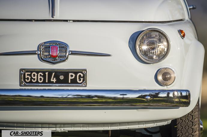 dettaglio anteriore Nuova Fiat 500 D