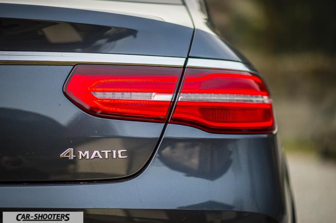 Dettaglio logo 4MATIC su Mercedes-Benz GLE Coupé