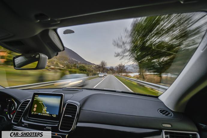 Vista del passeggero su Mercedes-Benz GLE Coupé 4MATIC