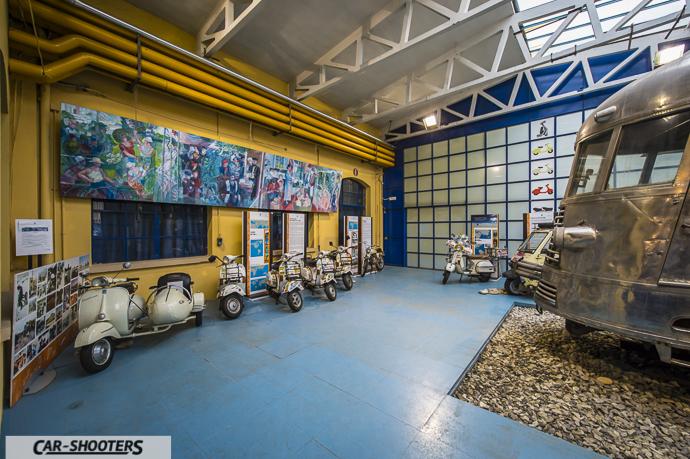 Veduta anticamera Museo Piaggio di Pontedera