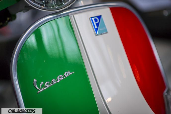 Dettaglio Vespa per i 150 anni unità di Italia