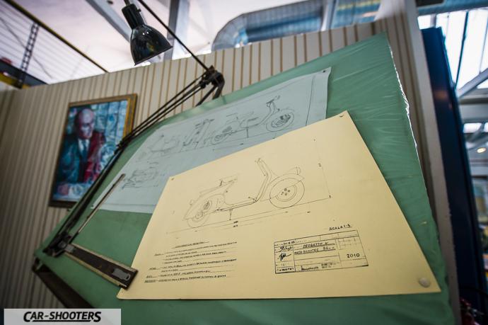Dettaglio disegni progetto Vespa
