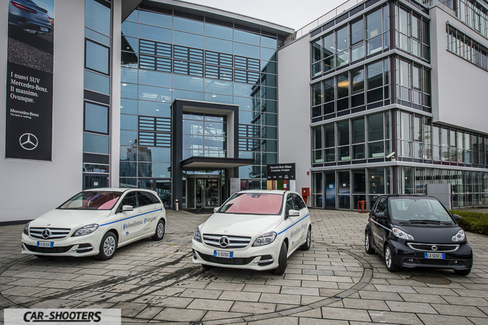 Mercedes Classe B e Smart Electric Drive al Mercedes-Benz Centre di Milano