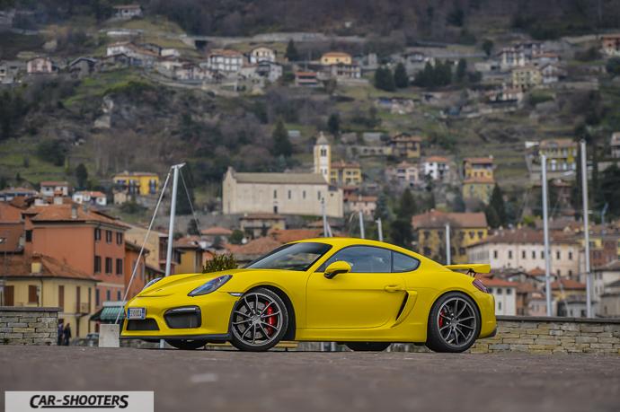 Porsche Cayman GT4 a Gravedona