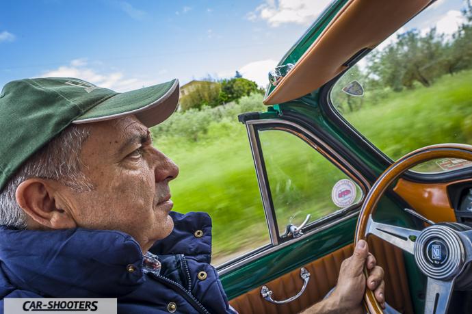 Fiat Nuova 500 Convertible azione di guida