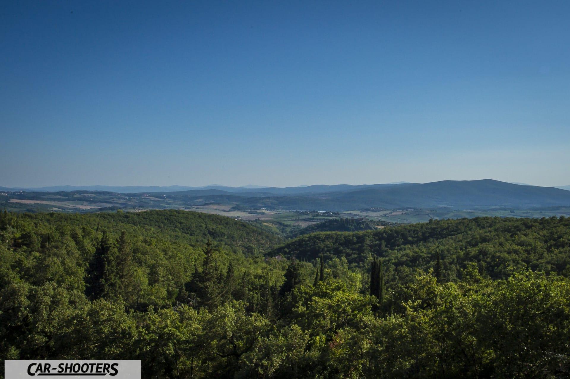 La vista da Fonterutoli